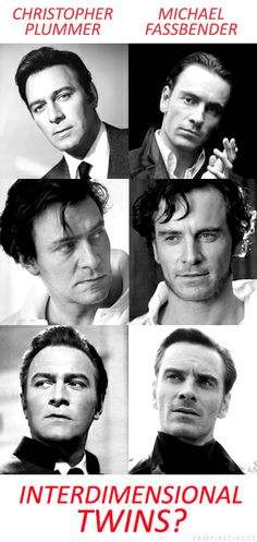 Young Christopher Plummer and Michael Fassbender, look-a-likes. I don't think they look too similar, but seeing them side by side is...mesmerizing...