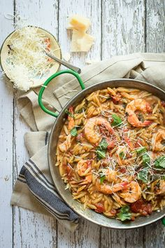 Easy One-Pot Shrimp Orzo - Foodness Gracious