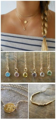 A perfect gold necklace set that combines 3 necklaces