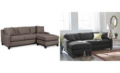 Keegan Fabric 2 Piece Sectional Sofa: Custom Colors - Sectional Sofas - Furniture - Macy's