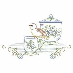 Vintage Tea Set 2 02(Lg) machine embroidery designs