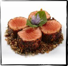Rare Seared BC Sockeye Salmon in Cajun Spice