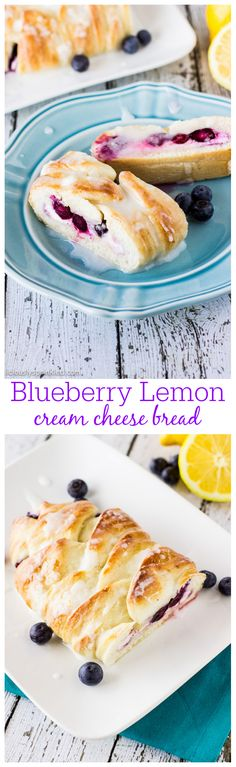 Blueberry Lemon Cream Cheese Bread | Deliciously Sprinkled