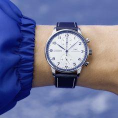 Bucherer BLUE x IWC Schaffhausen. What's your exceptional? Iwc, Watches, Chronograph, Blue, Accessories, Clocks, Clock, Ornament