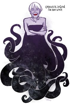 Ursula K. Le Guin as Ursula the Sea Witch (from The Toast)