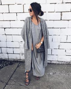 All Grey Outfit - Monochromatic