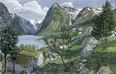 Sonde I Jolster, Norway Art Print by Nikolai Astrup at King & McGaw