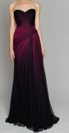 PLUM OMBRE GOWN SO BEAUTIFUL