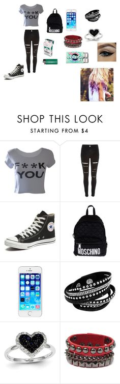"""""""@ school and so shIty"""" by love-of-death ❤ liked on Polyvore featuring interior, interiors, interior design, home, home decor, interior decorating, M:UK, River Island, Converse and Moschino"""