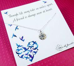 Kompass Collier Halskette Freundschaft von BriguysGirls auf Etsy