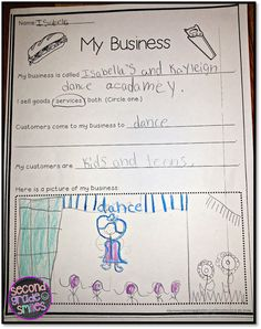 economics, communities & goods and services for first and second graders $