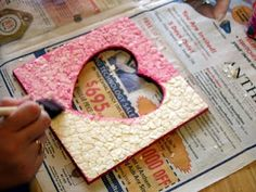 egg shell picture frame