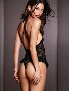 Lily Aldridge Brings the Heat in Victorias Secret Lingerie Shoot