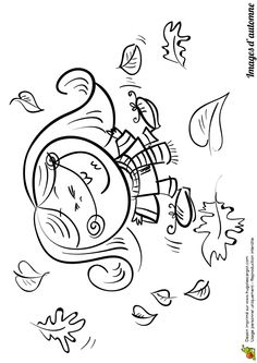 1000 images about coloriages dessins d 39 automne on pinterest petite fille jolie images and - Coloriage petit vent ...