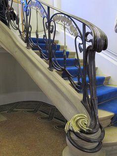 Maison Bergeret à Nancy - Rampe d'escalier - Louis Majorelle
