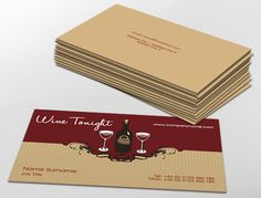 Traditional business card design, ideal for wine enthusiasts. Customise a range of business card templates online for print at www.brunelone.com/premium-business-cards/designs