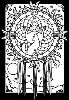 Dreamcatchers Stained Glass coloring book 2 by OodleArdle, via Flickr