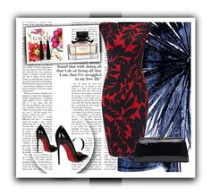 """""""Untitled #12"""" by aammiraa ❤ liked on Polyvore featuring Leftbank Art, MKF Collection, Christian Louboutin and SUSAN FOSTER"""