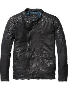 Leather Biker Jacket | Leather Jackets | Men's Clothing at Scotch & Soda