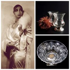 Crystal Clear. Josephine Baker & vintage crystal from @seasidecollectibles