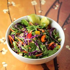 Rainbow Chopped Salad with Ginger Peanut Dressing