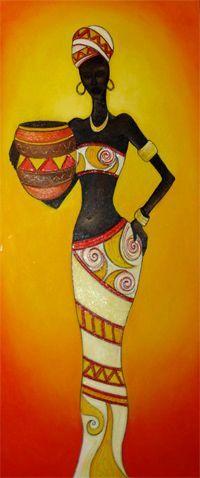 africanas - Buscar con Google Black Women Art, Black Art, Afrique Art, African Art Paintings, Afro Art, African American Art, Tribal Art, Fabric Painting, Indian Art