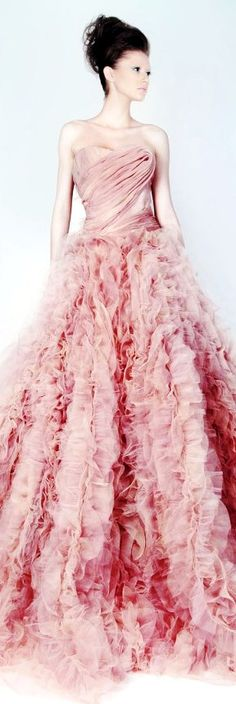 Rami Kadi s/s 2013 Wouldn't this make a lovely pink wedding gown?