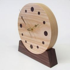 unusual wood clock | ... wooden clock. Unique wooden anniversary gift. Unique wooden gift. Wood
