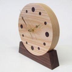 unusual wood clock | ... wooden clock. Unique wooden anniversary gift. Unique wooden gift. Wood