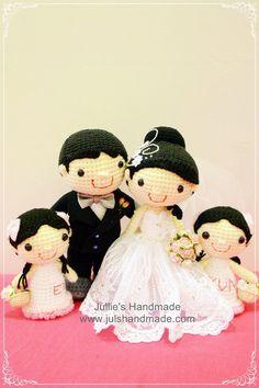 Amigurumi wedding dolls - no pattern