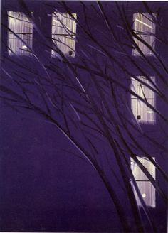 """Alex Katz, """"Purple Wind"""" (1995). 126˝ × 96˝."""