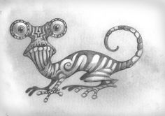 drawings of lizards | John Cox Art: Sketches Archives