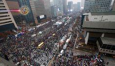 Coreia do Sul: 8º sábado consecutivo de protestos em Seul