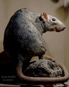 Rat Sculpture by Erick Aubry