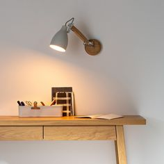 Venatti wall light , oatmeal, Am.Pm | La Redoute Desk Lamp, Table Lamp, Compact Fluorescent Bulbs, Structure Metal, Bedroom Wall, Solid Oak, Floor Lamp, Light Bulb, Wall Lights