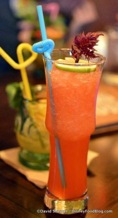 Tahitian Torch ByeJoe Dragon Fire Spirit, Tropical Juices, Passion Fruit, and fresh Lime Juice