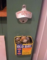 The Book of Jimmy » DIY Old Bay Can Bottle Cap Catcher