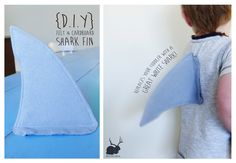 DIY Shark Fin for dressing up! Could add elastic straps.