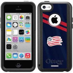 New England Revolution Jersey Design on OtterBox Commuter Series Case for Apple iPhone 5c