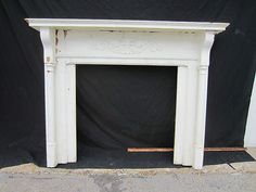 TALL ANTIQUE OAK FIREPLACE MANTEL ~ CORBELS ~ ARCHITECTURAL ...