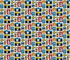 Vintage Cameras fabric by amywalters on Spoonflower - custom fabric