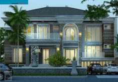 Architectural design for a minimalist home model can be placed or built with a fairly limited place. Architectural Design House Plans, Architect Design, Dream House Plans, My Dream Home, Interior Exterior, Exterior Design, Modern Bungalow House, Villa, Minimalist House Design