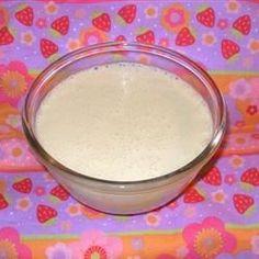 Sweetened Condensed Milk Allrecipes.comOriginal recipe makes 1 1/3 cupChange Servings  3/4 cup white sugar  1/2 cup water  1 1/8 cups powdered milk