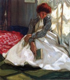 The Athenaeum - Woman with a Book (Frederick Carl Frieseke - )