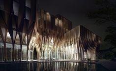 eksterior perpustakaan Sleuk Rith Institute - Penelusuran Google