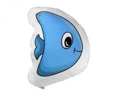 Perna decorativa Fish Blue 32x37 cm