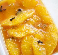 Hämmentäjä: Marinoidut appelsiinit ja riisipuurovanukas.
