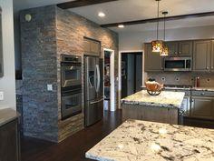 Mushroom glazed kitchen cabinets - Mushroom Painted Cabinets With Charcoal Glaze Splendor White Granite