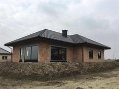 Projekt domu TK133 119,71 m2 - koszt budowy - EXTRADOM Modern Family House, Home Fashion, Bungalow, Gazebo, House Plans, Shed, Outdoor Structures, Cabin, House Styles