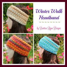 Winter Walk Headband... Free Crochet Pattern!! Beatrice Ryan Designs